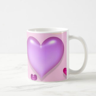 Pink hearts for the St. Valentine's day - Mugs