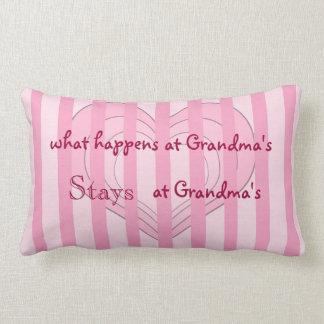 Pink Hearts Grandma Throw Pillow