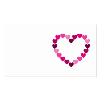 Pink hearts heart business card