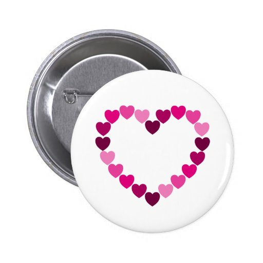 Pink hearts heart button
