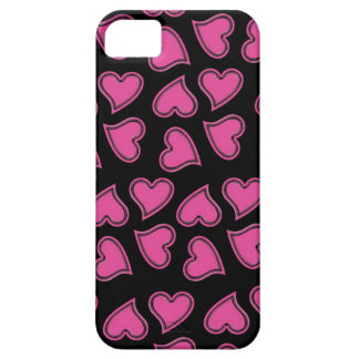 Pink Hearts in Random Pattern Barely There iPhone 5 Case