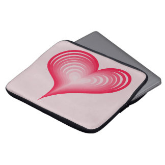 Pink hearts laptop sleeve