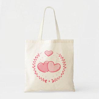 Pink Hearts & Laurel Wreath Love