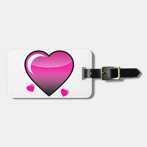 Pink Hearts Tags For Luggage