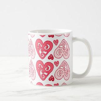 Pink Hearts Mug