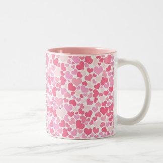 Pink Hearts Pattern Mug