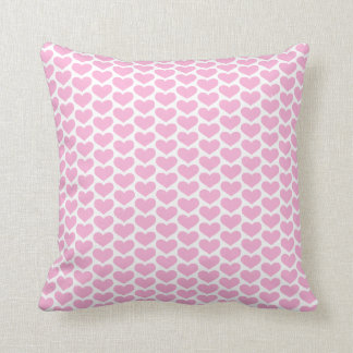 Pink Hearts Pattern Pillow