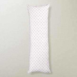 Pink Hearts Polka Dot Pattern Body Pillow
