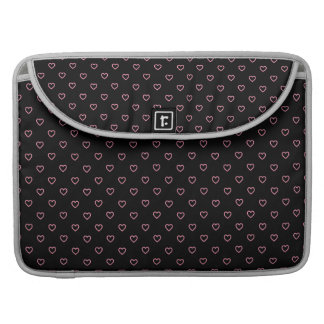 Pink Hearts Polka Dot Pattern Macbook Sleeve