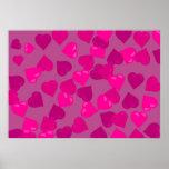 Pink Hearts Print