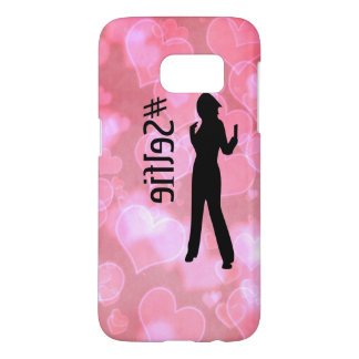 Pink Hearts #Selfie Samsung Case