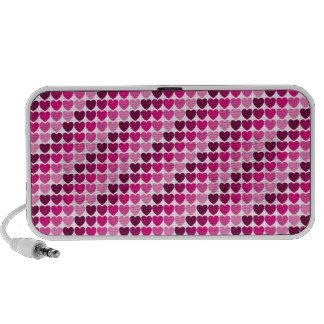 Pink hearts speaker