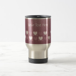 Pink Hearts Stainless Steel Travel Mug