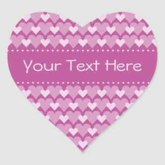 Pink Hearts stickers, customize Heart Sticker