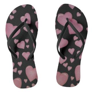 Pink hearts thongs
