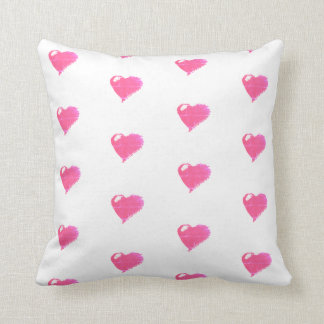 Pink hearts Throw Cushion 41 x 41 cm