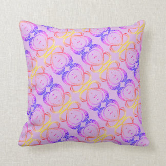 Pink hearts - Throw Pillow
