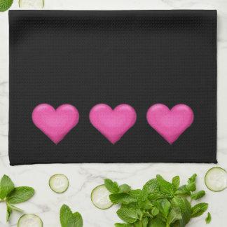Pink Hearts Towel