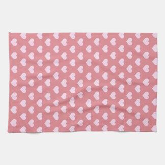 Pink Hearts Towels