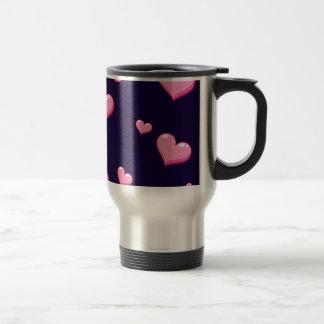 Pink Hearts Travel Mug