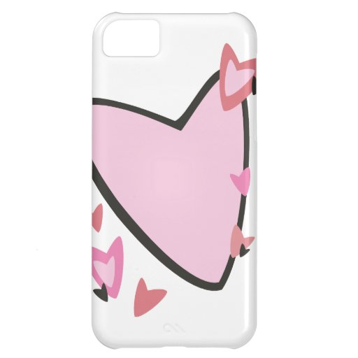 Pink Hearts Valentine's Day iPhone 5C Case
