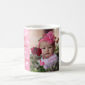 Pink Hearts Valentine's Day Photo Coffee Mug