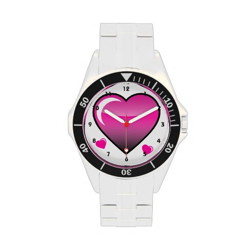 Pink Hearts Wristwatches