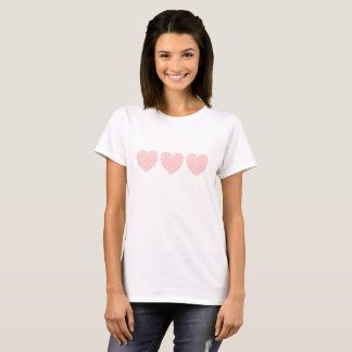 Pink Hearts within Hearts Trio T-Shirt