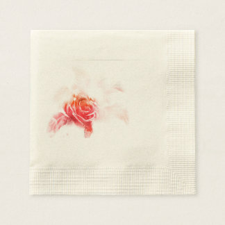 Pink Heavenly Flower - Mixed Art Disposable Napkins