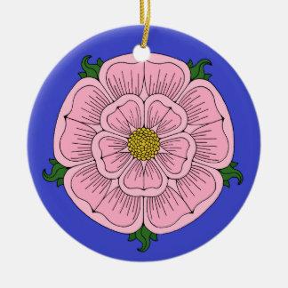 Pink Heraldic Rose Ornament