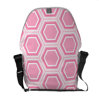 Pink Hexagon Pattern Courier Bag