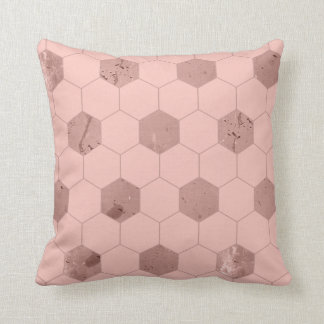 Pink Hexagons Cushion