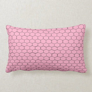 Pink Hexagons Lumbar Pillow