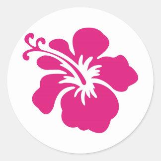 Pink Hibiscus Design Stickers