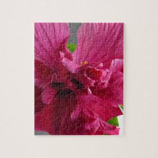Pink Hibiscus, flourishing alder is gifta Jigsaw Puzzle