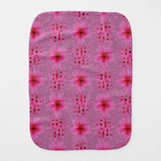 Pink Hibiscus Flower Baby Burp Cloth
