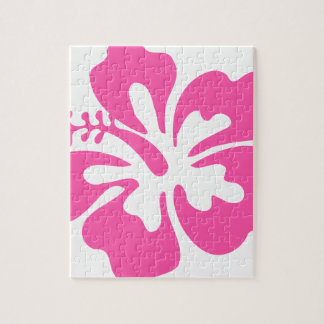 Pink Hibiscus Flower Jigsaw Puzzle