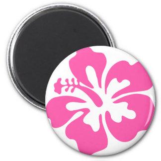 Pink Hibiscus Flower Magnet