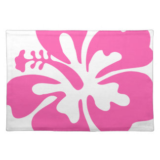 Pink Hibiscus Flower Placemat