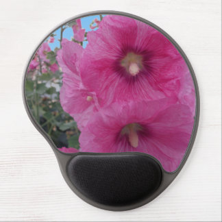 Pink Hibiscus Flowers Gel Mouse Pad