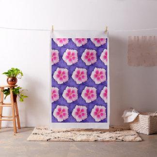 Pink Hibiscus on Purple Fabric