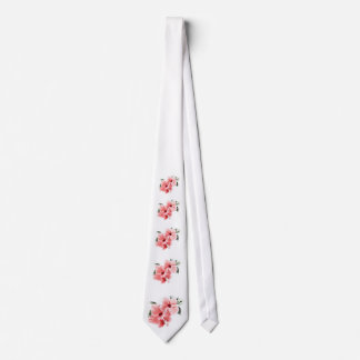 Pink Hibiscus Tie