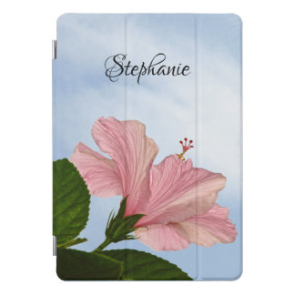 Pink Hibiscus with Blue Sky Floral Photography iPad Pro Cover