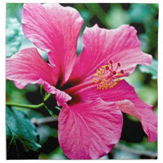 Pink Hibiskus Napkin