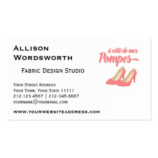 Pink High Heels Funny French Expression Pack Of Standard Business Cards