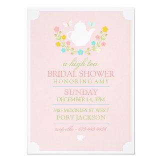 Pink High Tea Bridal Shower Invitation