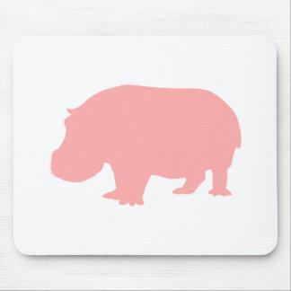 Pink Hippopotamus Mouse Pad
