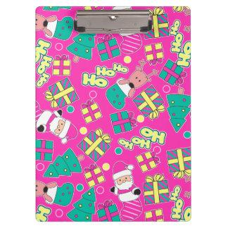 Pink - Ho Ho Santa Clipboard