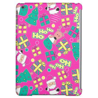Pink - Ho Ho Santa iPad Air Cover