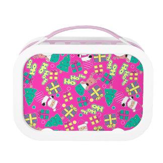 Pink - Ho Ho Santa Lunch Box